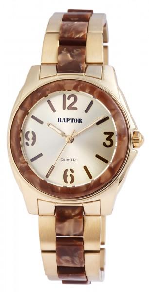 Raptor Damen - Uhr Edelstahl Armbanduhr Analog Quarz RA10076
