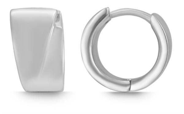 Giulia Luna Damen – Creolen 925er Silber rhodiniert Ohrringe GL5200073