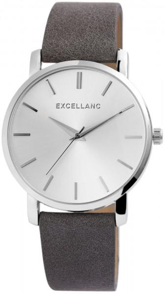 Excellanc Damen - Uhr mit Lederimitationsband Analog Quarz 2900098