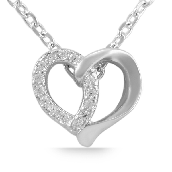 Giulia Luna Damen-Halskette Anhänger Herz Liebe 925er Silber Strass GL5210015