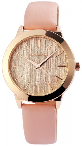 Excellanc Damen-Uhr Lederimitat Dornschließe Rund Elegant Analog Quarz 1900119