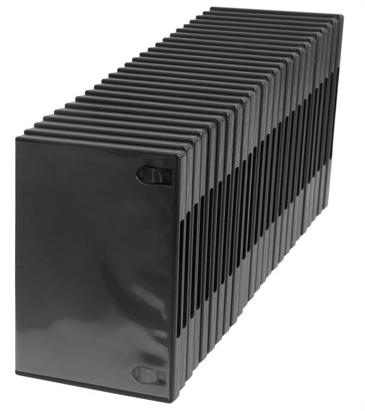 Amaray DVD-Doppelhülle Rücken 15mm passend für CDs und Blu-rays 25 Stück