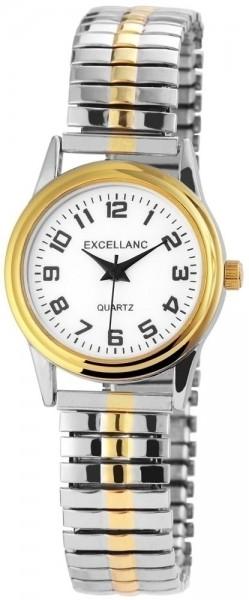 Excellanc Damen - Uhr Metall Zugarmband Armbanduhr Analog Quarz 1700024