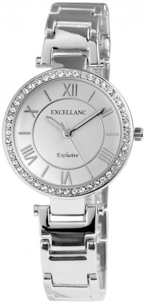 Excellanc Damen-Uhr Metallarmband Clipverschluss Leuchtzeiger Analog Quarz 1800046