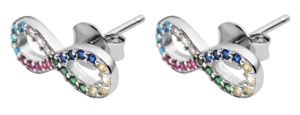 Giulia Luna Damen–Ohrringe 925er Silber Unendlichkeit Infinty Strass GL5200094