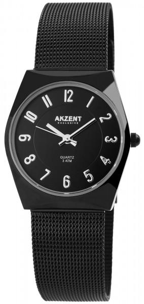 Akzent Exclusive Damen-Uhr Milanaiseband Hakenverschluß Analog Quarz 1300015
