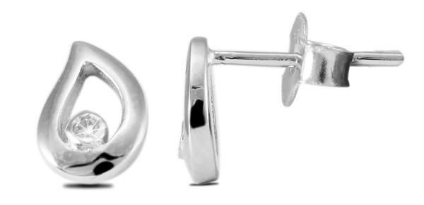 Giulia Luna Damen – Ohrstecker 925er Silber rhodiniert Ohrringe Strass GL5200040