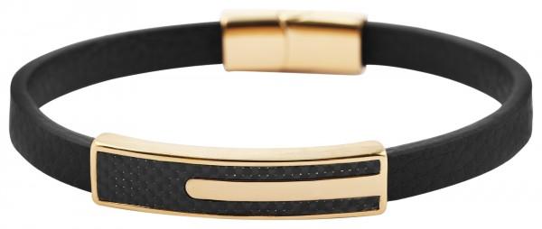 Akzent Damen - Armband aus Echtleder mit Edelstahl Länge 21,5 cm 5040259