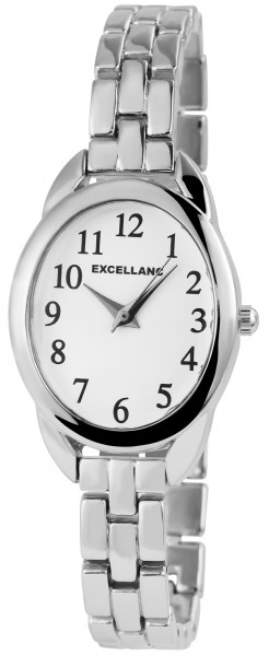Excellanc Damen-Uhr Gliederarmband Metall Clipverschluss Analog Quarz 1800165