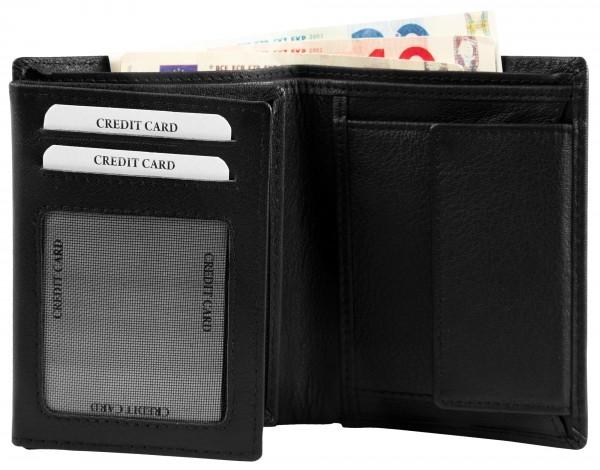 Excellanc Herren-Geldbörse Echt Leder 9,5 x 12 cm Hochfomat RFID 3000369