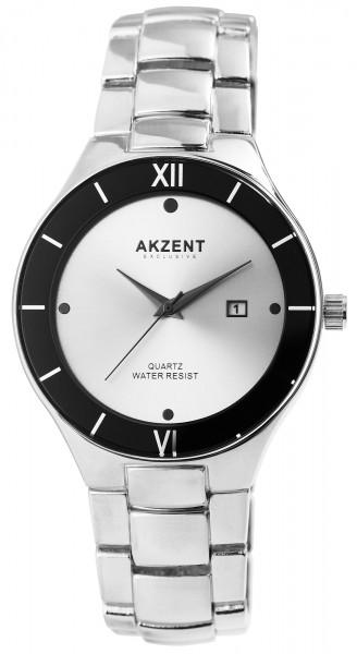 Akzent Exclusive Herren - Uhr Metall Armbanduhr Datum Elegant Analog Quarz 2800073