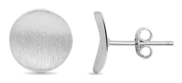 Giulia Luna Damen–Ohrstecker rund matt Elegant 925er Silber Ohrringe GL5200110