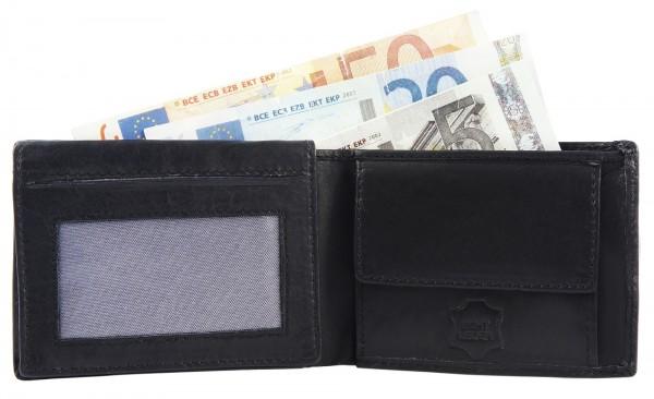 Excellanc Unisex-Geldbörse Echt Leder 10 x 7,5 cm Querformat 3000128
