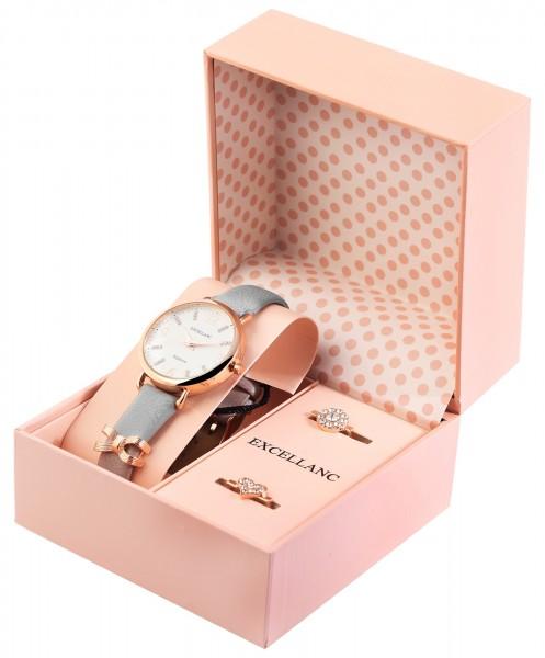 Excellanc Exclusive Damen-Geschenkset Armbanduhr Wechselelement Strass 1900252