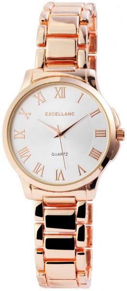 Excellanc Damen-Uhr Metallarmband Clipverschluss Eleganz Analog Quarz 1800077