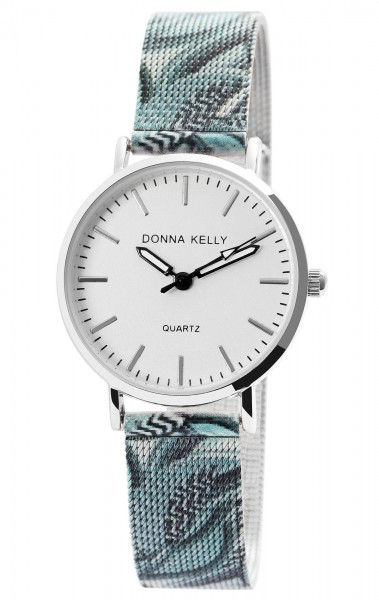 Donna Kelly Damen-Uhr Mesharmband Edelstahl Mehrfarbig Analog Quarz 1300021