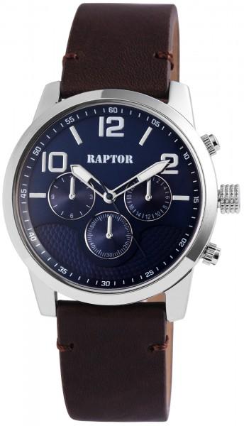 Raptor Herren - Uhr Oberseite Echt Leder Armbanduhr Analog Quarzwerk RA20067
