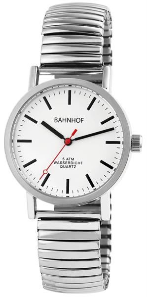 Bahnhof Herren - Uhr Metall Zugband Comfort Armbanduhr Analog Quarz 2700020
