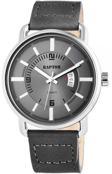 Raptor Herren-Uhr Oberseite Echtlederarmband Datumsanzeige Quarzwerk RA20082