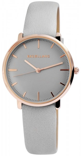Excellanc Damen – Uhr Lederimitat Armbanduhr Dornschließe Analog Quarz 1900202