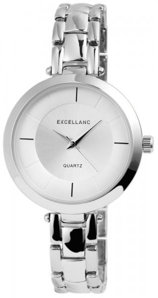 Excellanc Damen-Uhr Gliederarmband Metall Clipverschluss Analog Quarz 1800146