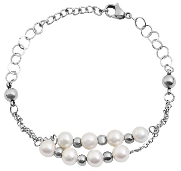 Akzent Damen - Armband aus Edelstahl Länge 17+3 cm Karabiner Verschluss 5030446