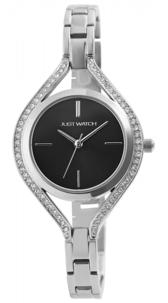Just Watch Damen-Uhr Edelstahl Armband Strass JW298 Analog Quarz JW10147