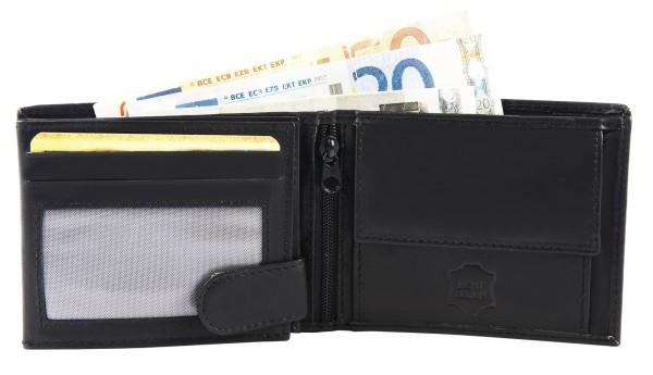 Excellanc Herren-Geldbörse Echt Leder 10 x 8 cm Querformat 3000127