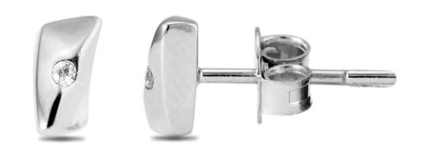 Giulia Luna Damen –Ohrstecker 925er Silber rhodiniert Ohrringe Strass GL5200027