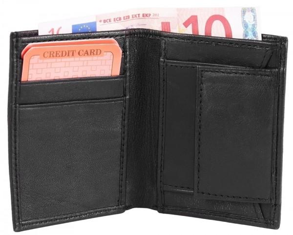 Excellanc Unisex-Mini Geldbörse Echt Leder Hochformat 10 x 7,5 x 1 cm 3020006