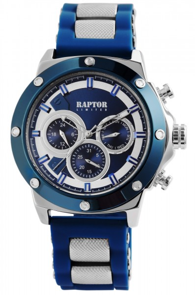 Raptor Limited Herren-Uhr Silikon Multifunktion Analog Quarz RA20246