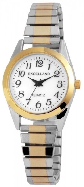 Excellanc Damen-Uhr Zugarmband Metall Analog Quarz Armbanduhr 1700022