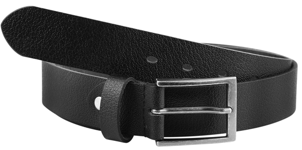 Leonardo Verrelli Echt Leder Gürtel, schwarz, kürzbar