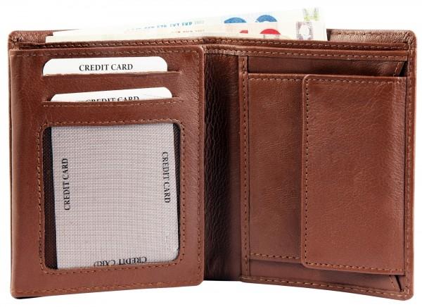 Excellanc Herren-Geldbörse Echt Leder 9 x 12 cm Hochformat RFID 3000371