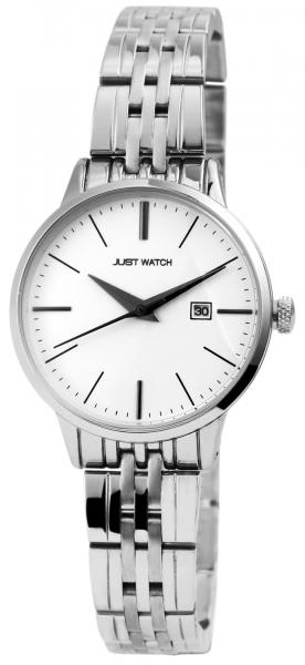 Just Watch Damen-Uhr JW149 Edelstahl Faltschließe Datum Analog Quarz JW10086
