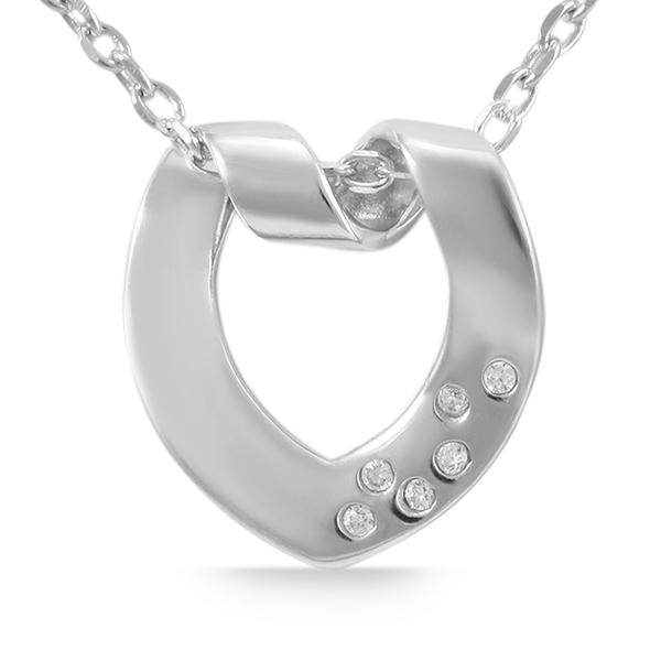 Giulia Luna Damen-Halskette Anhänger Elegant Edel 925er Silber Strass GL5210013