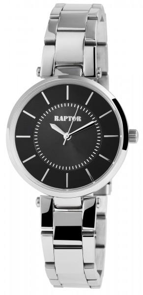 Raptor Damen-Uhr Edelstahl Armbanduhr Analog Quarz mit Faltschließe RA10058